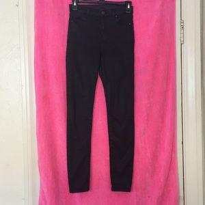 Topshop Jamie Jeans in Coated Black